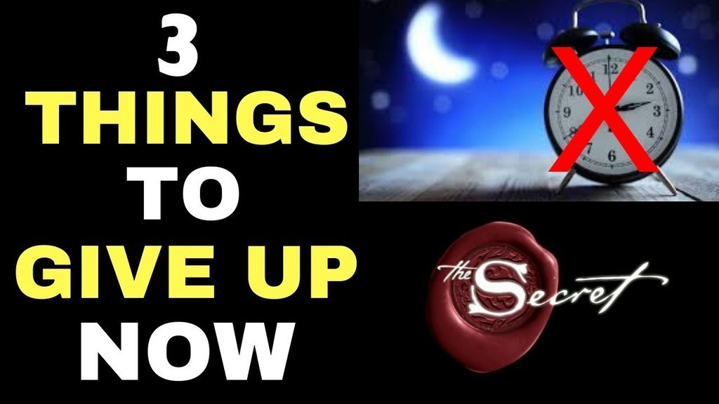3 Things You Must Give Up To Manifest While Sleeping