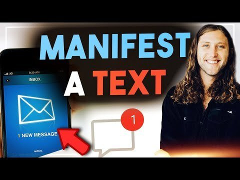 how to manifest a text message